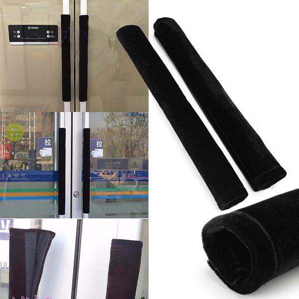 Manija del refrigerador 2pcs cubre las herramientas de protección mango negro hogar usados