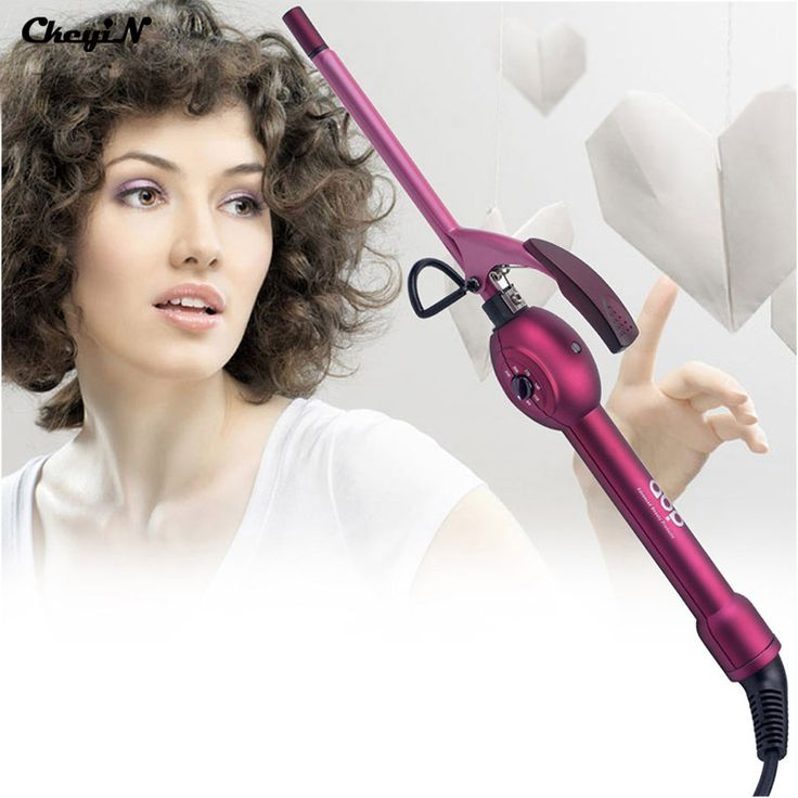 CkeyiN 9mm Deep Curly Hair Styler Curls Ceramic Curling Iron Corrugated Wand Curler Pear Hair Roller Tongs Professional Styling