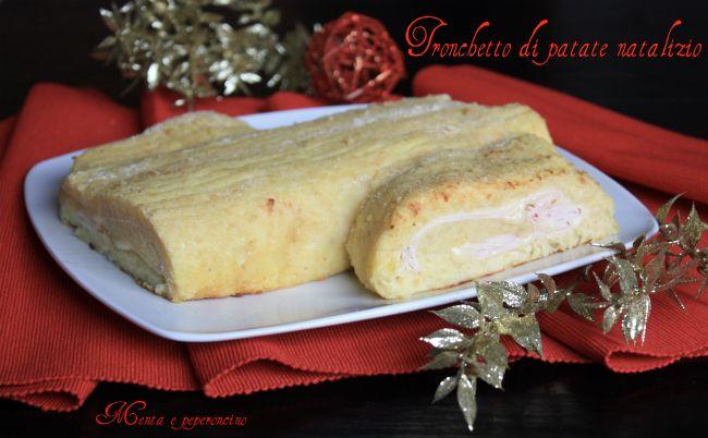 Tronchetto di patate natalizio