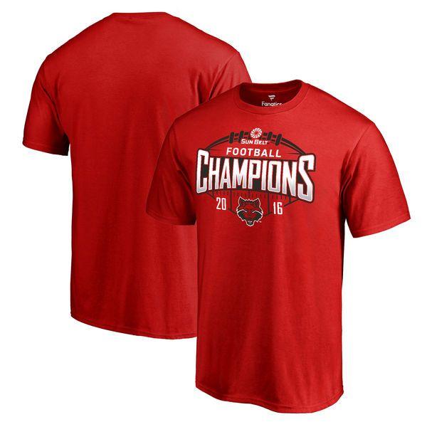 Arkansas State Red Wolves Fanatics Branded 2016 Sun Belt Football Champions T-Shirt - Red - $24.99