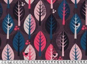 Bomulds Jersey, Økologisk stof med stilistiske Træer