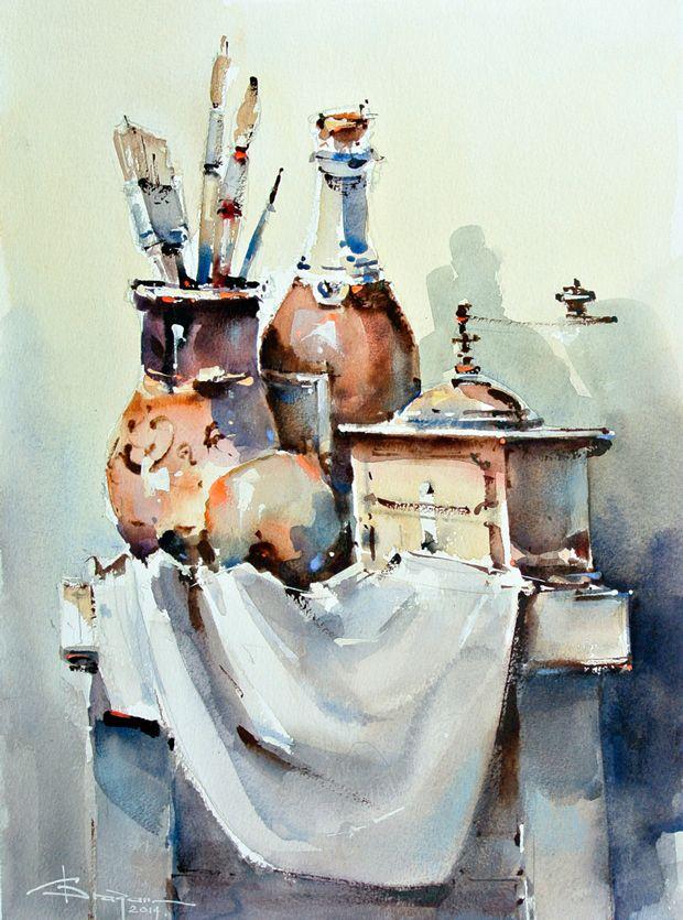 Watercolour-Acuarela-Corneliu-Dragan-Targoviste-natura-moarta-compozitie-23