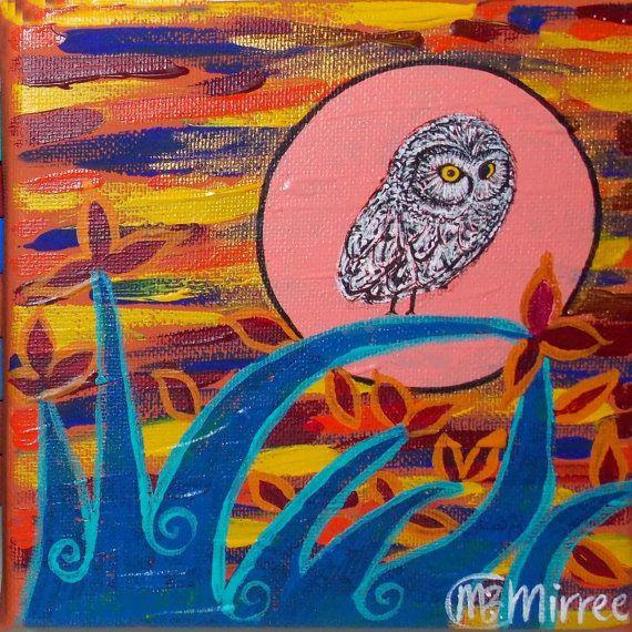 Day Owl 1 Contemporary Aboriginal Art by DreamsofCreationAust