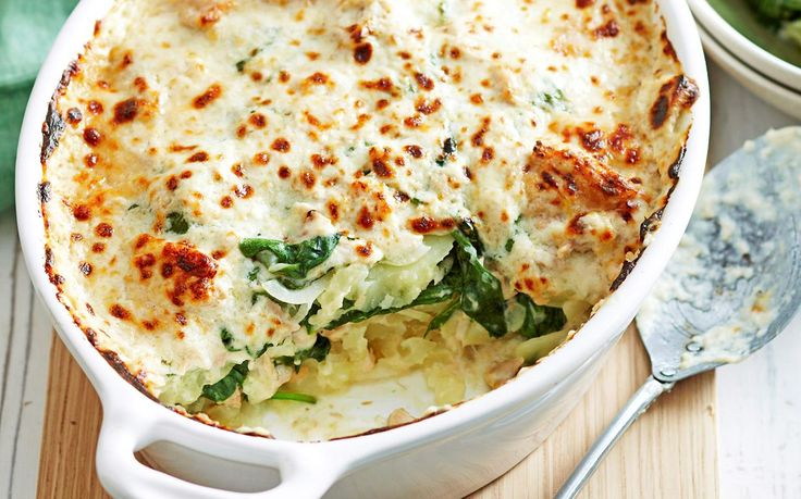 With golden parmesan and a zesty tuna sauce this hearty bake will warm your family on cold winter nights.