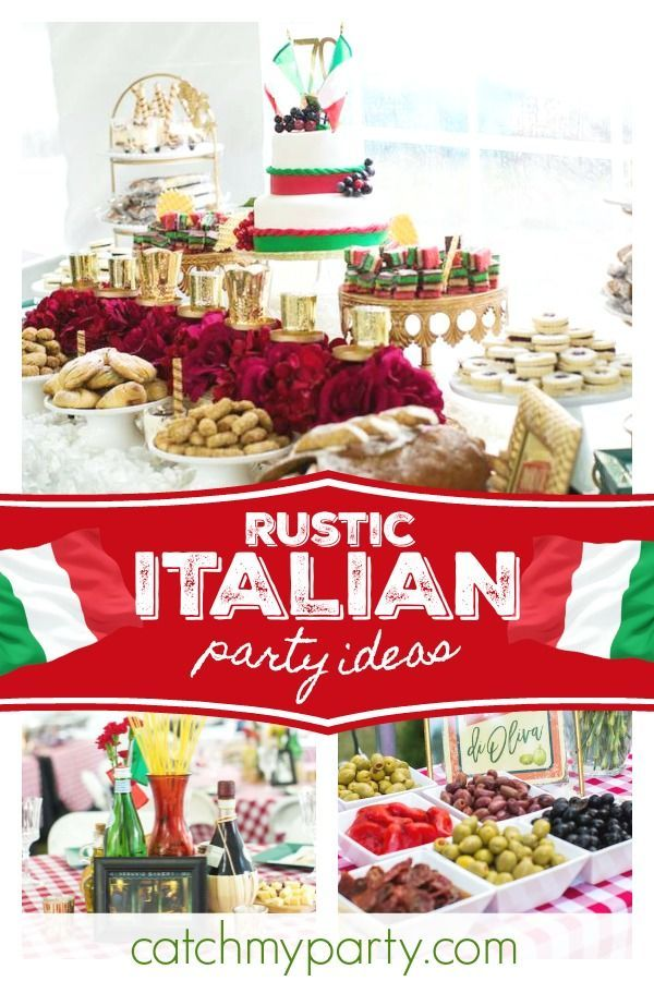 Take A Trip To Italy With This Fabulous Italian 70th Birthday Party The Decorations