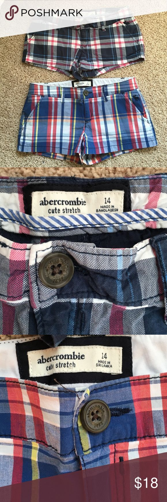 Abercrombie girls shorts sz14 or ladies 00 Abercrombie girls plaid shorts cute stretch size 14 or can fit ladies 00. Very good condition. Selling as a bundle or will sell separately. abercrombie kids Shorts