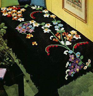 💐 👨🏼 💐 Flor Fonte Afegão Crochê Padrão Cena 5091 -  /  💐 👨🏼 💐 Flower Fountain Afghan Crochet Pattern  Dianeh 5091 -