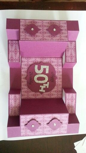 50th birthday tri fold card