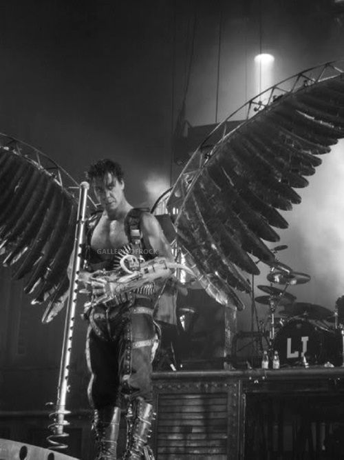 Till Lindemann - Rammstein...once you see them live, and feel the heat from the pyrotechnics...nothing else compares!