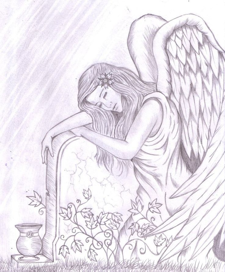 Angel embracing a tombstone.  Have a look at more by going to the image