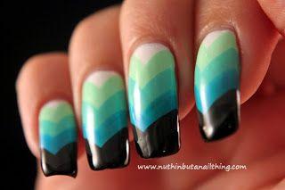 Chevron nail art tutorial