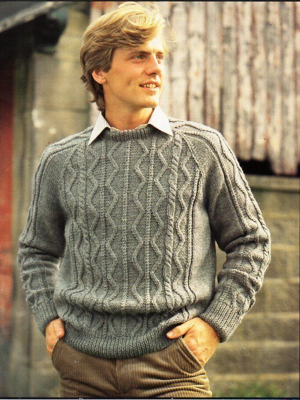 PDF of vintage women/'s knitting pattern from the 1950/'s. Cables Cardigan sizes 38 to 52 or men/'s for him or her bustchest 36-50
