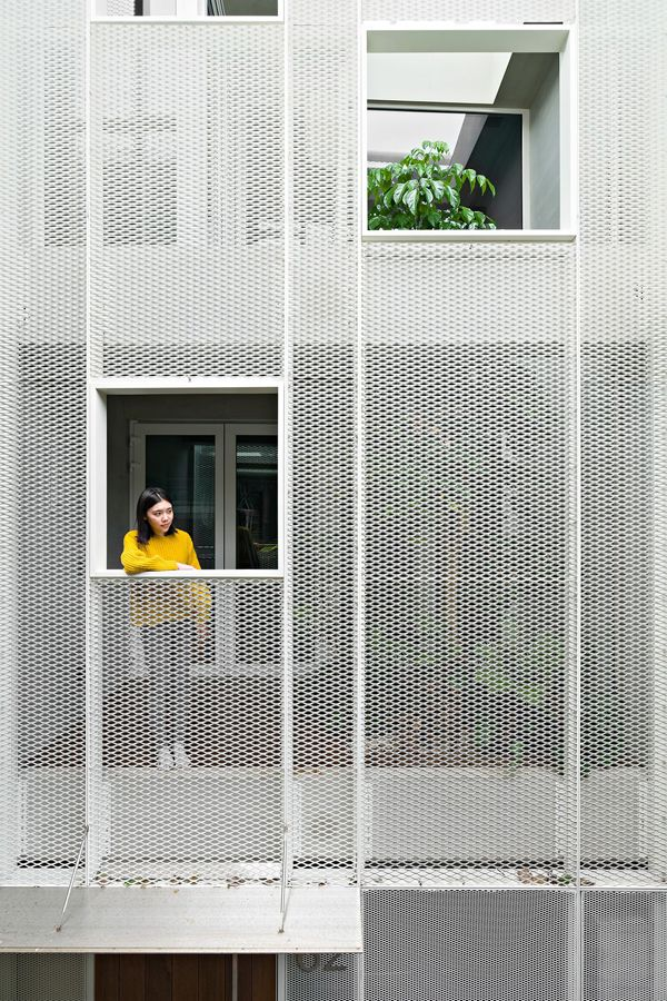 Front Elevation For Three Floor House : Best metal mesh screen ideas on pinterest perforated