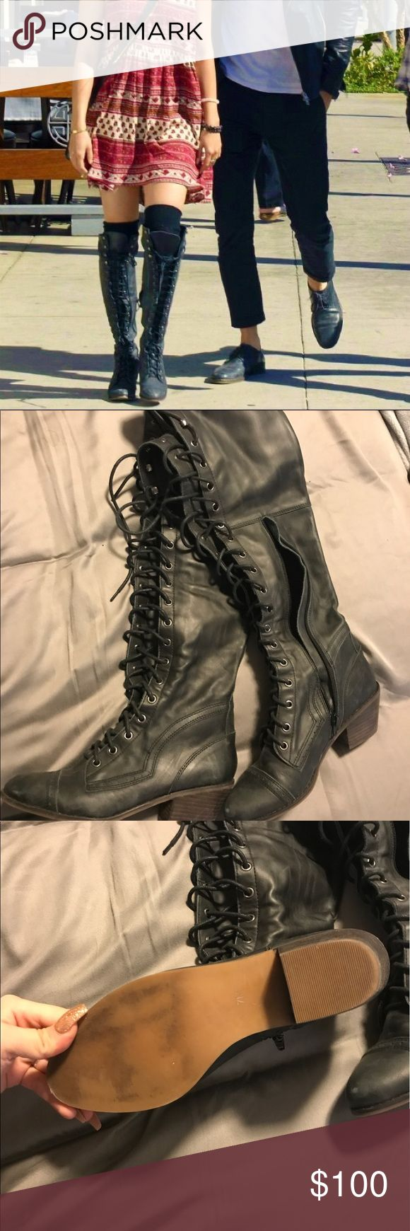 FREE PEOPLE lace up boots size 7 Like new without box Free People Lace Up boots. As seen on Vanessa Hudgens Free People Shoes Over the Knee Boots