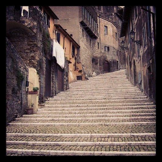 Palestrina. Vicoli del centro storico.
