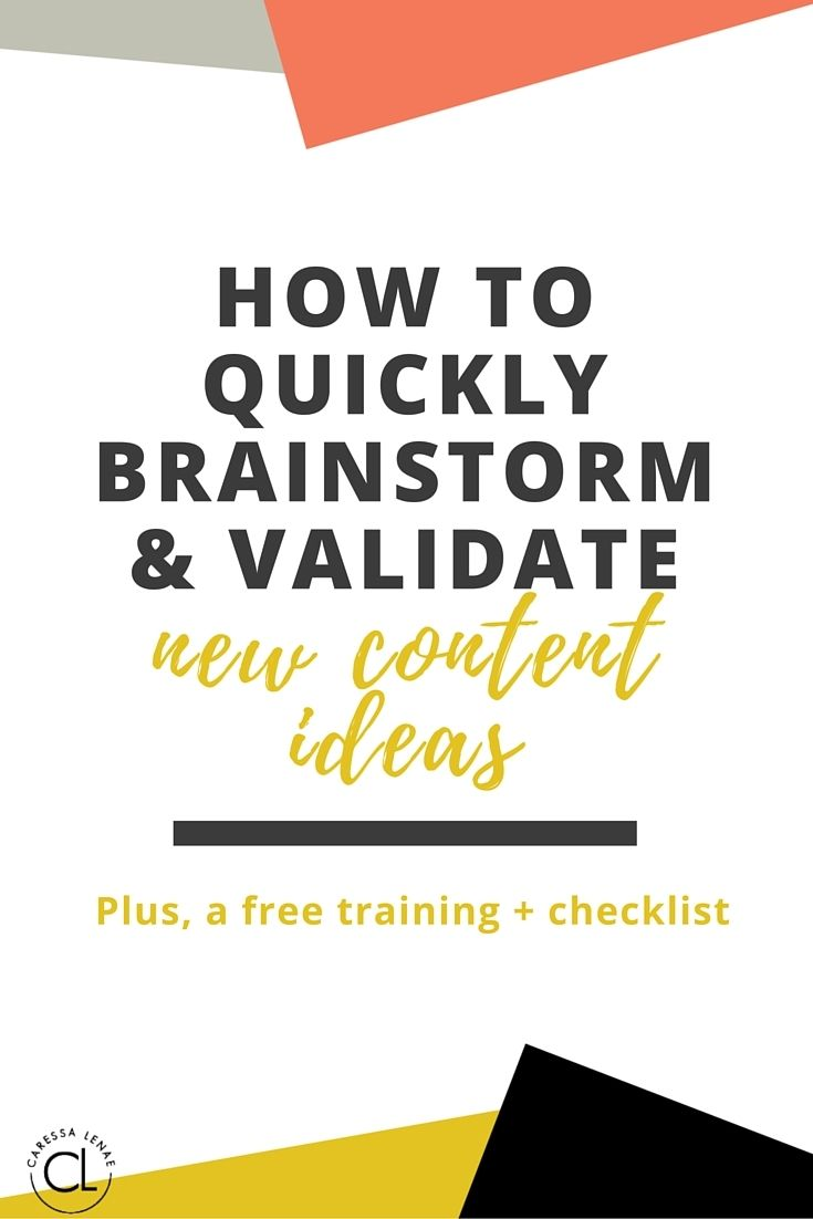 Learn about the one thing that may cripple your business growth and how to ensure you don't make this mistake with a free video training on how to quickly brainstorm and validate new content ideas. via @CaressaLenae