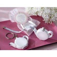 Teapot Tape Measure Keychain Favour