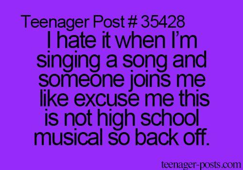 annoying, back off, bitch, black, friend, funny, hate, high school, high school music, hsm, lol, purple, so true, song, stop it, teen, teenager, teenager post, teenagerpost, tumblr, stop ir