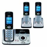VTech DS6321-3 DECT 6.0 Cordless Phone, Silver/Black, 3 Handsets (Office Product)By VTech