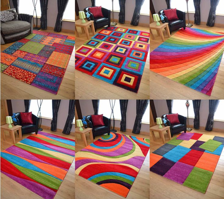 Large Modern Bright Vibrant Colours Soft Thick Carved Medium Rug Mats Cheap Rugs | eBay