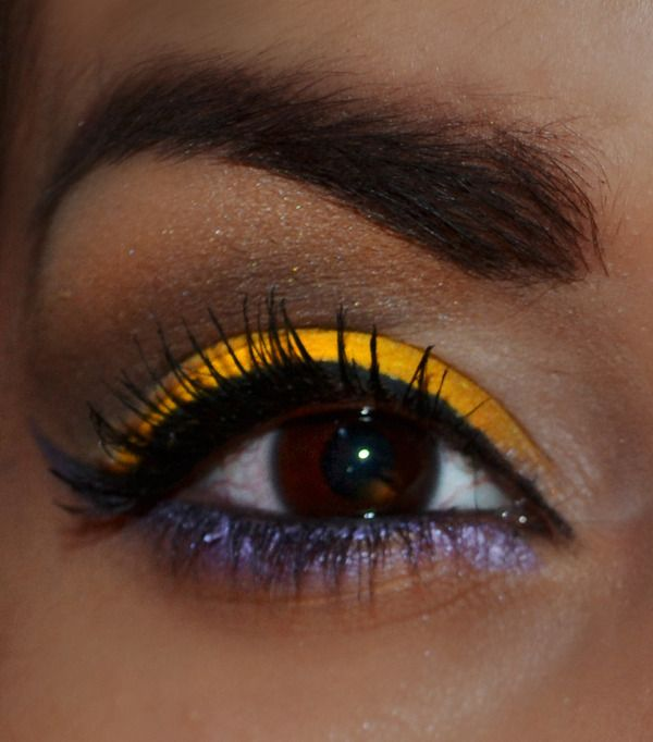 Yellow & Purple Eye - pretty for cheer competition