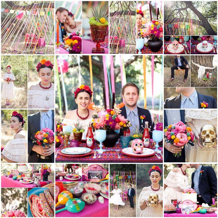 Dia De Los Muertos Wedding Theme Ideas: Destination Wedding Mexico: A Colorful Wedding Inspired By