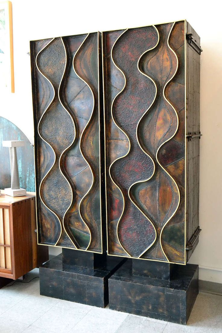 Pair of Wave Front Cabinets by Paul Evans, 1971 | From a unique collection of antique and modern cabinets at http://www.1stdibs.com/furniture/storage-case-pieces/cabinets/