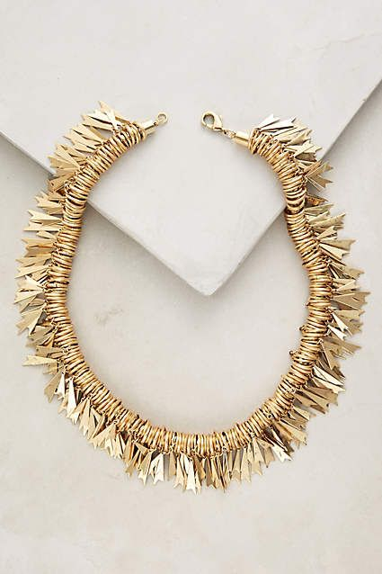 Leo Fringe Necklace - anthropologie.com. -  maybe use rose gold and non-sharp edges