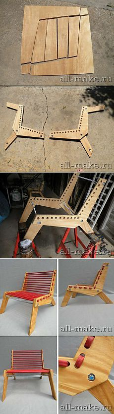 """"""" homemade products the hands - make a country chair the hands itself of improvised materials"""