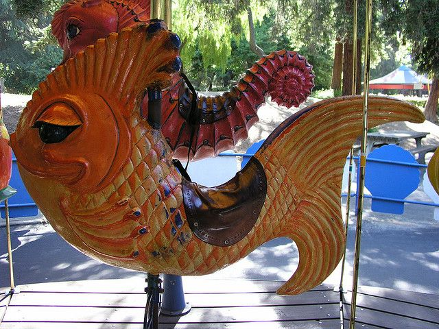 King Neptunes Orange Fish Carousel from Happy Hallow | Flickr - Photo Sharing!