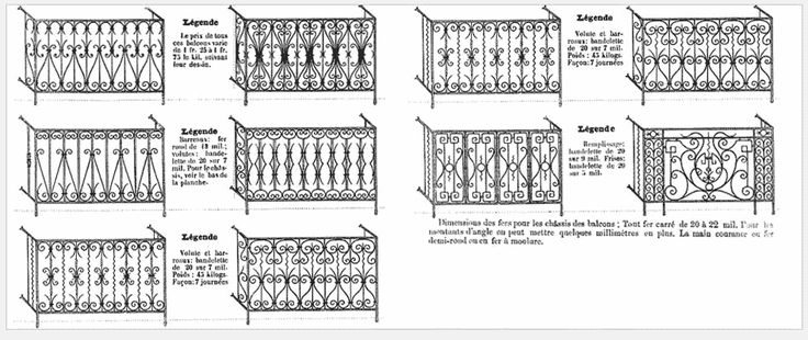 Balcons en fer forgé par un artisan d'expérience