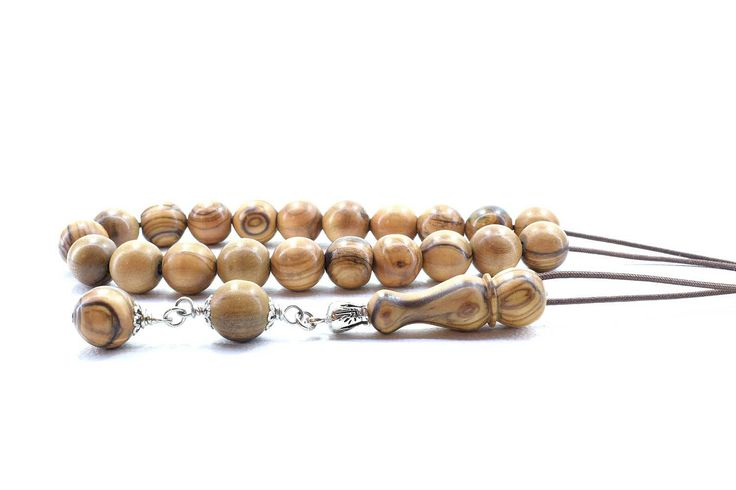 Olive Wood Komboloi Worry Beads Greek Komboloi Olive Wood Beads Stress Relief Gift for Him Made in Greece Gift for Dad Gift for Him