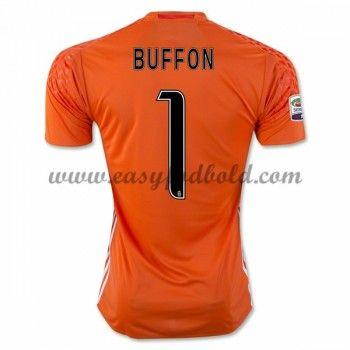 Fodboldtrøjer Series A Juventus 2016-17 Buffon 1 Målmand Hjemmetrøje