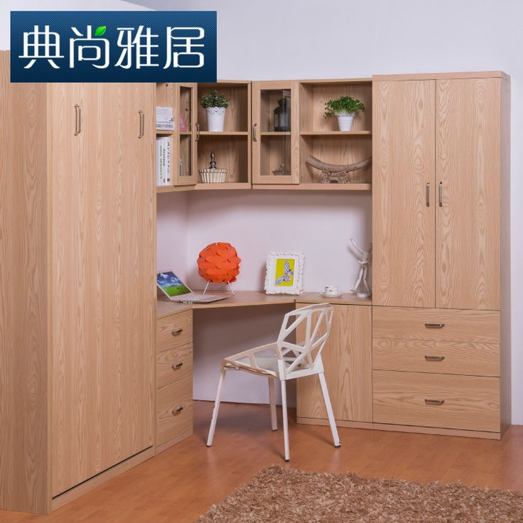 Cheap Muebles a medida de los niños escritorio de la esquina combinación estantería invisible flap cama de la pared armario ropero, Compro Calidad Sets de Muebles Infantiles directamente de los surtidores de China: (Nota: Este producto debe estar instalado en una pared sólida)