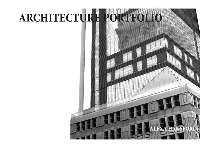 Alexa Hansford Architecture Portfolio Syracuse University School of Architecture