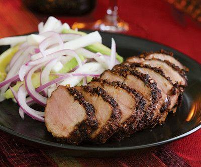 Yucatán Pork Tenderloin with Jicama, Avocado & Red Onion Salad ...