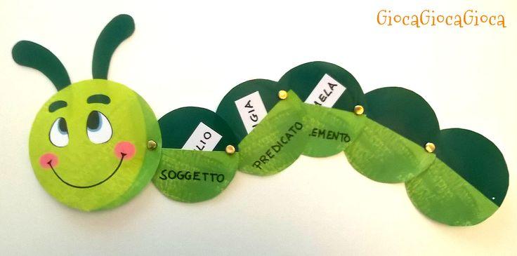 Insegnare italiano ai bambini con il bruco Minimo! Lo trovate qui: http://www.giocagiocagioca.com/2015/10/il-bruco-minimo.html