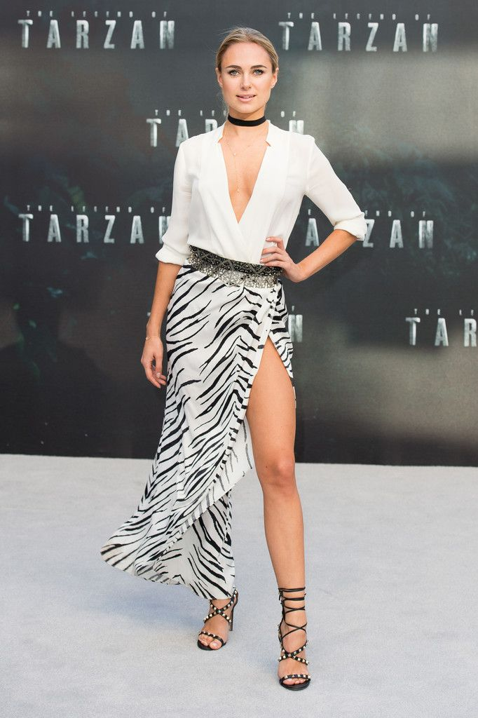 """Kimberley Garner attends the European premiere of """"The Legend Of Tarzan"""" at Odeon Leicester Square on July 5, 2016 in London, England."""