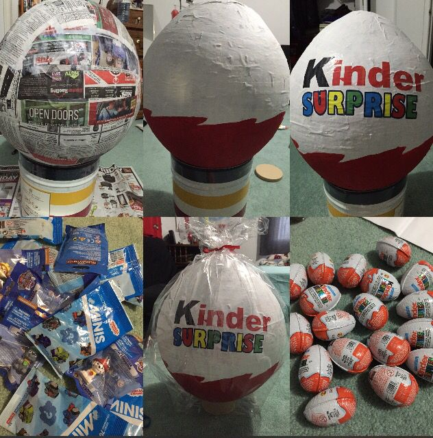 DIY Paper Mache Kinder Surprise Eggs!
