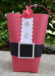 Santa Suit Bag in a Box. Stampin Up, Christmas