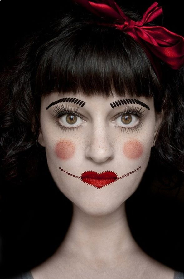 Maquillage poupée de chiffon