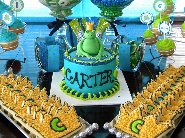 Frog Prince First Birthday Cake by Cakes By Jen, via Flickr