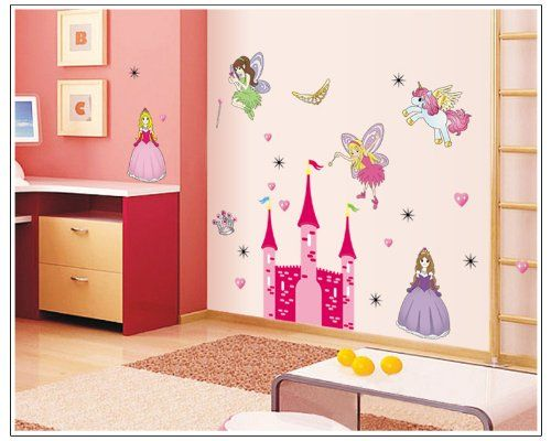 wall stickers -YYone Five Demons in Castle with Love Heart Wall Sticker Living Room or Bedroom Decor