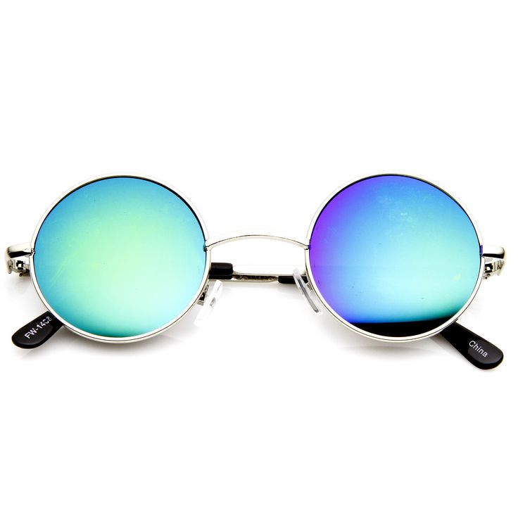 Retro Lennon Style Round Circle Metal Mirror Lens Sunglasses 1408 from zeroUV