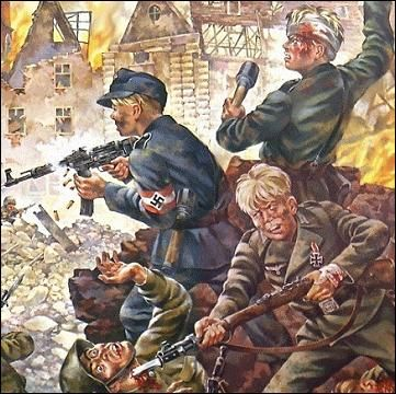 The Children of Breslau, defending their City from the Bolshevik hordes who outnumbered them 10 to 1. They held out until the end of the War, but were later betrayed by the West to the Soviet Union. #patriotism #nationalist