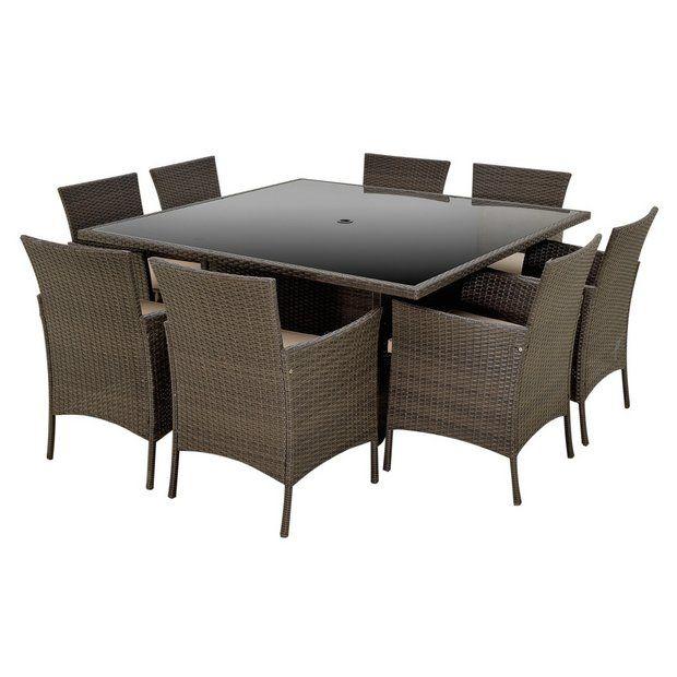 Buy Collection Fiji 8 Seater Rattan Effect Set - Grey at Argos.co.uk - Your Online Shop for Garden table and chair sets, Garden furniture, Home and garden.