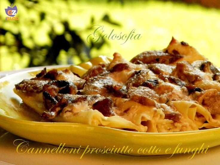 Cannelloni prosciutto cotto e funghi, gustosissimo primo piatto fatto in casa, con un goloso ripieno che vi conquisterà!