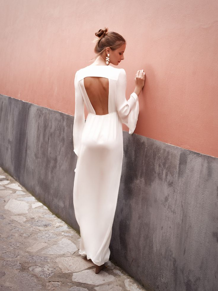 The AZZURRA gown in white silk available now online #stonecoldfox