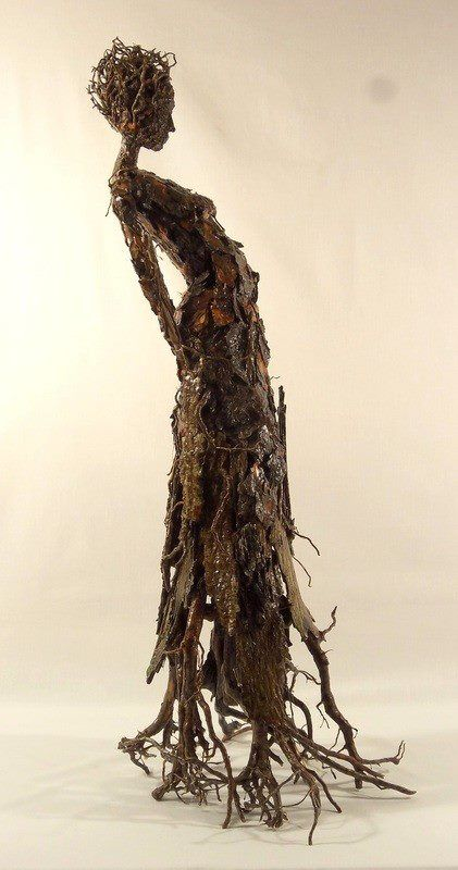 Tree Bark Figure by Becky Grismer. @designerwallace