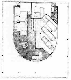 Le  Corbusier's ,Villa Savoye Ground plan